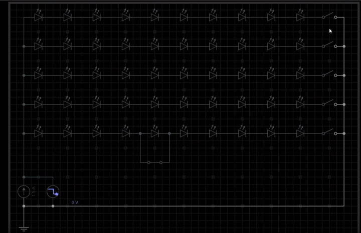 схема светодиодной матрицы прожектора