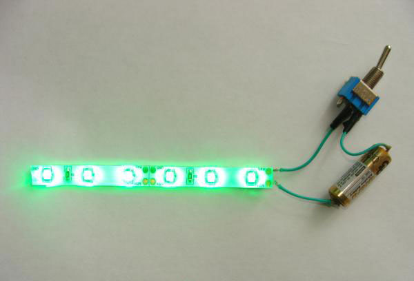подключение led ленты от батарейки