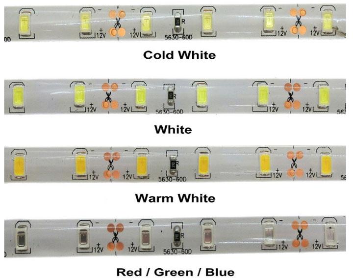 разные оттенки по теплу для ленты SMD 5730