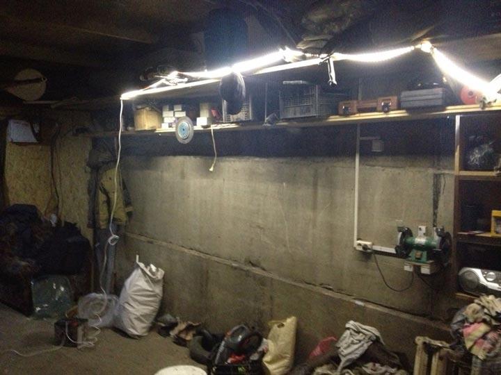 led подсветка на батарейке гаража