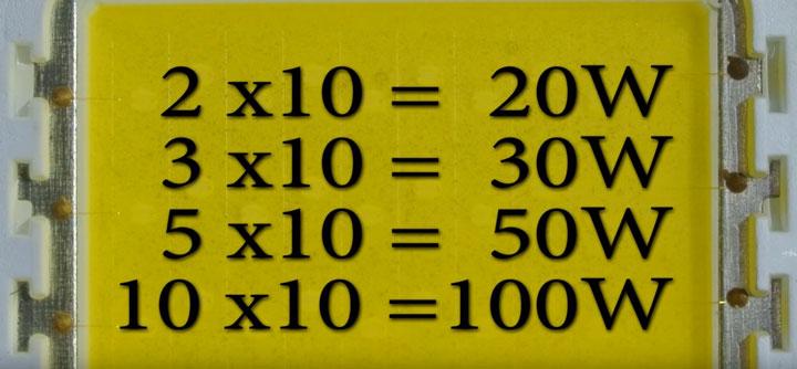 как легко определить мощность светодиодного прожектора