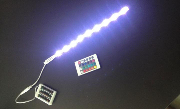 подключение светодиодной ленты от батареек