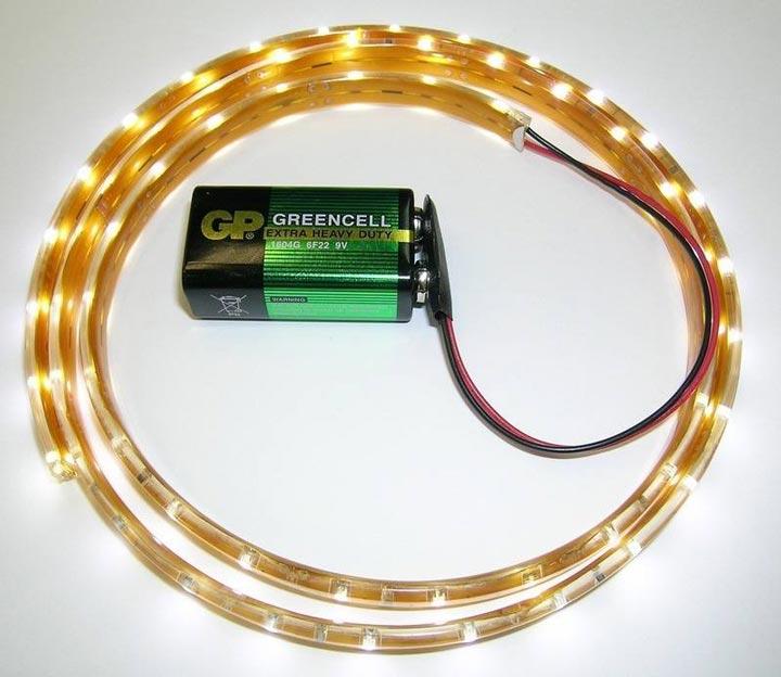 подключение светодиодной ленты от кроны