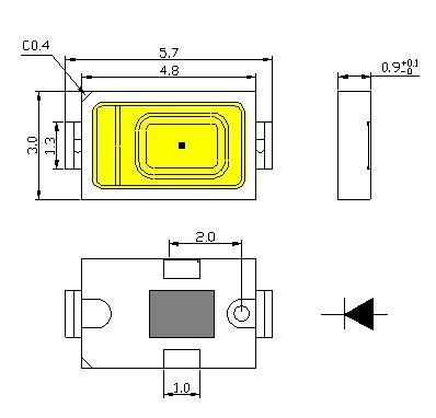 размеры и габариты светодиода СМД 5730