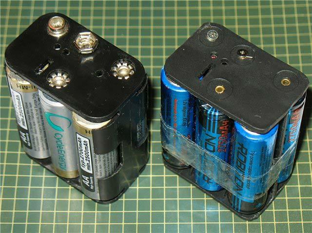 кассета контейнер для сборки нескольких батареек