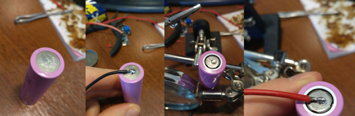 как припаять провода к батарейке для светодиодной ленты