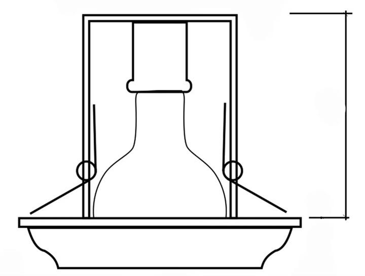 размер светильника точечного который прячется в нише