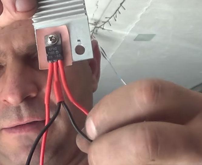 подключение светодиодной ленты через стабилизатор КРЕН в автомашине