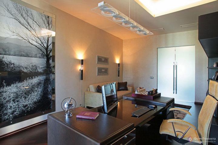 освещение рабочего стола в рабочем кабинете