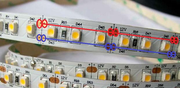 проверка дорожек светодиодной ленты