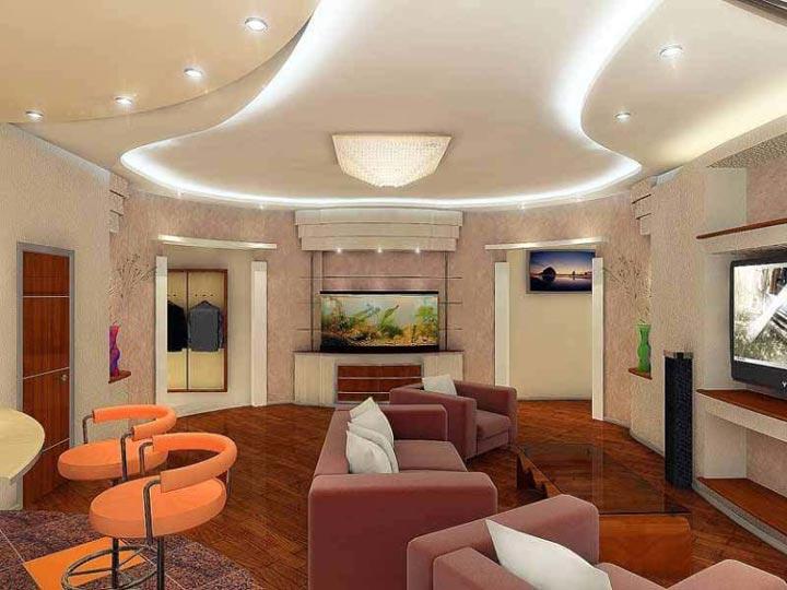 асимметричная схема подсветки потолка