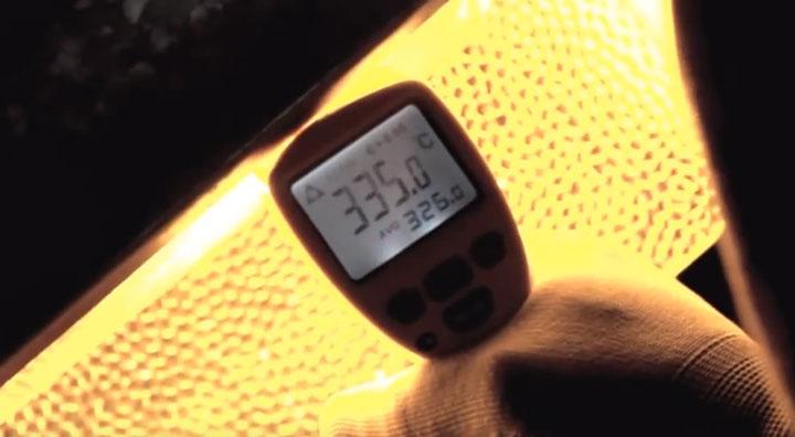 температура нагрева лампы днат замер пирометром