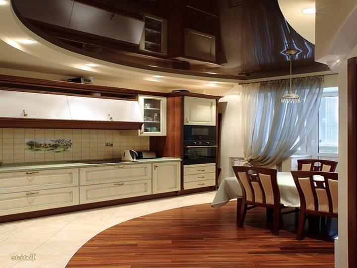 точечные светильники вдоль кухонных шкафчиков