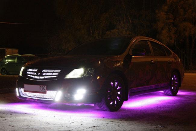 светодиодная подсветка кузова машины