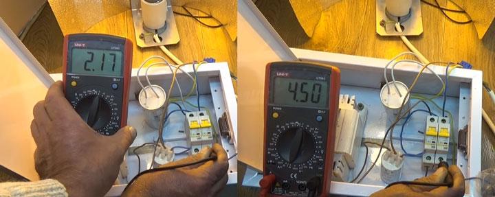 разница тока потребиления лампы ДНаТ с конденсатором и без конденсатора