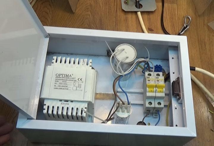 ящик для подключения лампы днат собранный своими руками