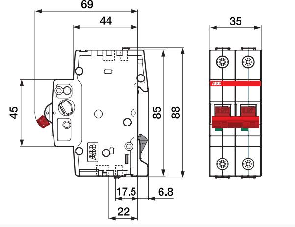 двухполюсный вводной автомат