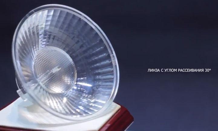 линзы рассеивания на трековых светильниках