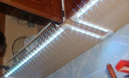 применение влагозащищенной светодиодной ленты