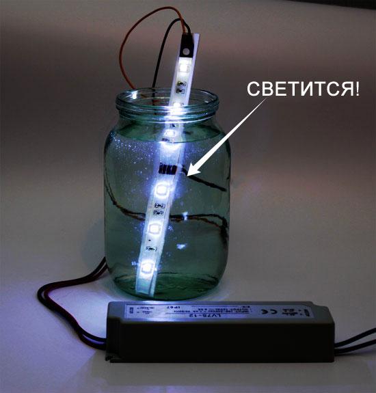 светодиодная лента с защитой IP68
