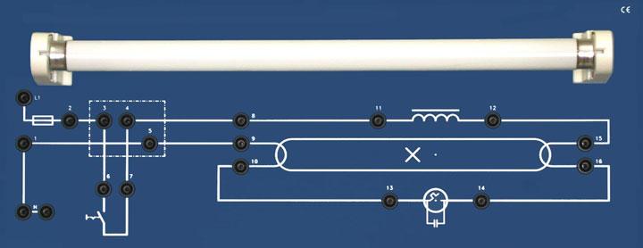 схема светильника дневного света со стартером принцип работы
