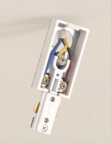 клеммная колодка для подключения однофазного трекового светильника