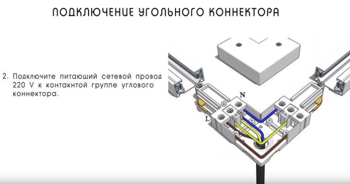 подключение углового коннектора