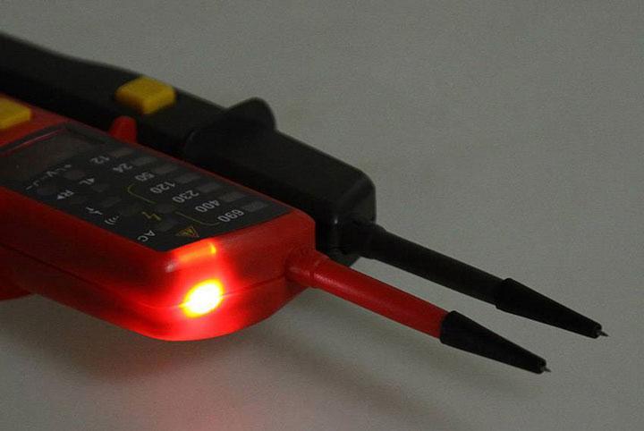 применение DIP светодиода в мультиметрах