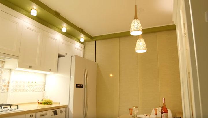дополнительное освещение на кухне