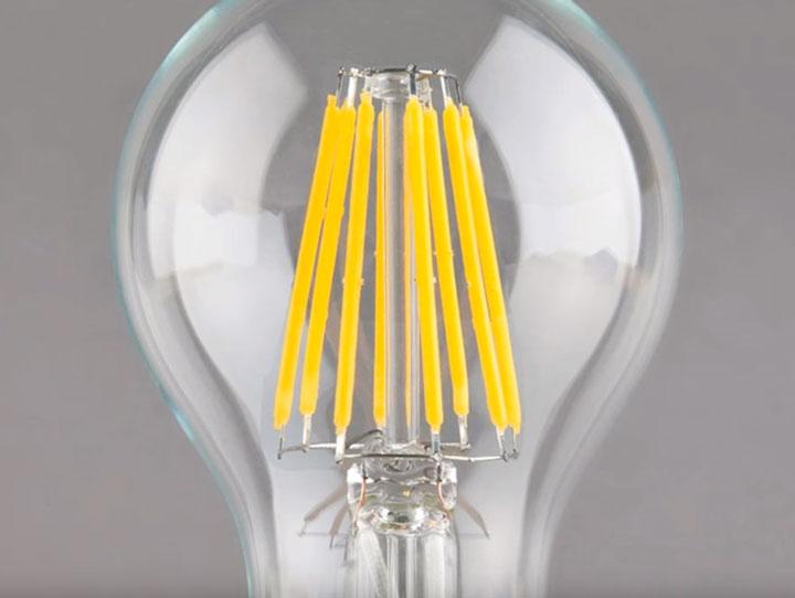 филаментные светодиоды в лампочках их характеристики и свойства