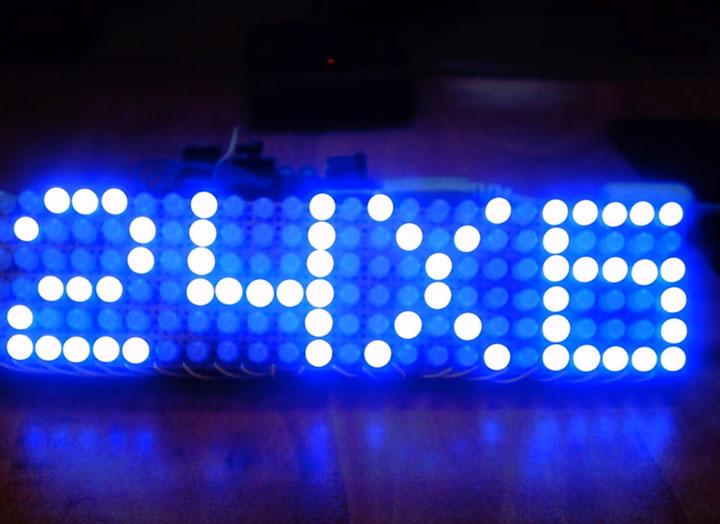 световое табло на основе DIP светодиодов