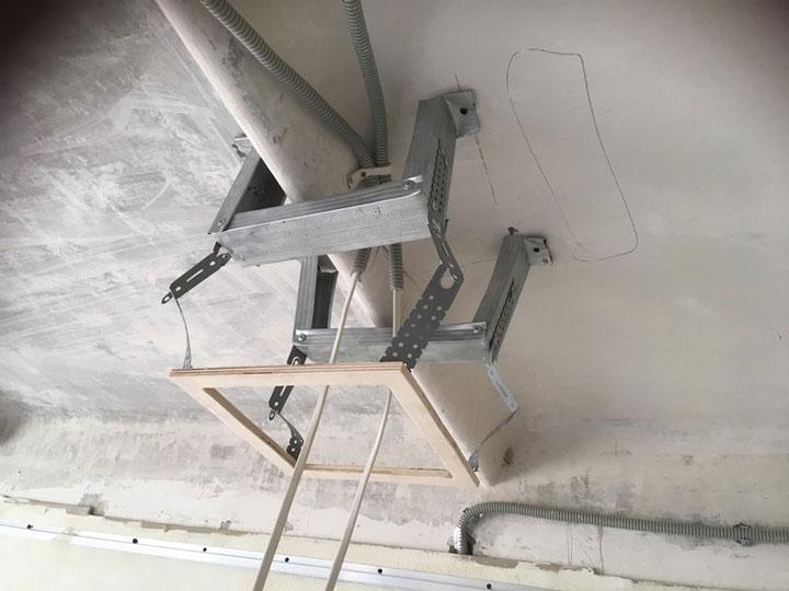 закладная платформа для квадратного светильника в натяжной потолок