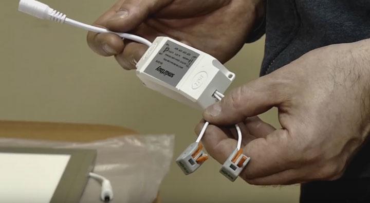 подготовка драйвера светодиодной панели для подключения к напряжению