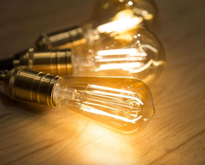 филаментные светодиоды в лампочках