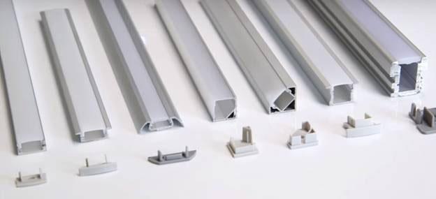 как закрепить светодиодную ленту в алюминиевом профиле