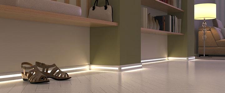подсветка полов светодиодной лентой