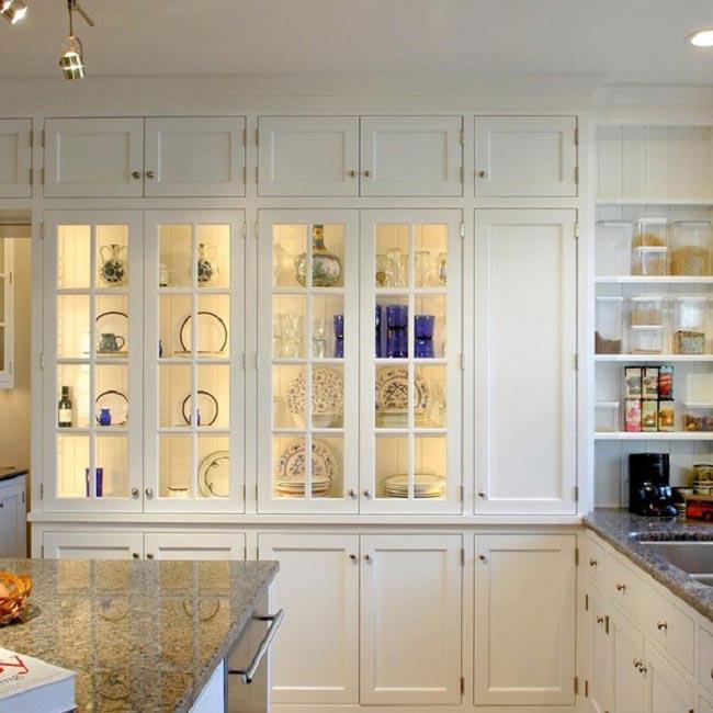 освещение лед лентой внутри кухонных шкафчиков