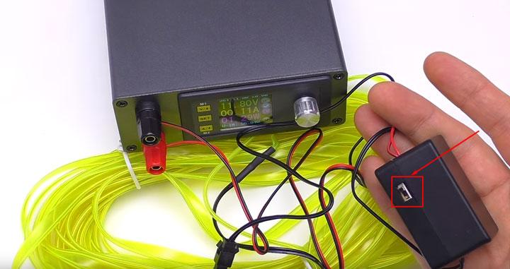 инвертор для неонового шнура подсветки полов