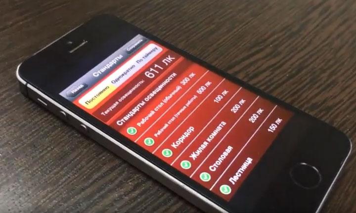 программы для замера уровня освещенности смартфоном