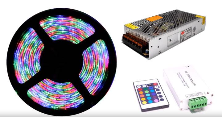 светодиодная лента с комплектующими