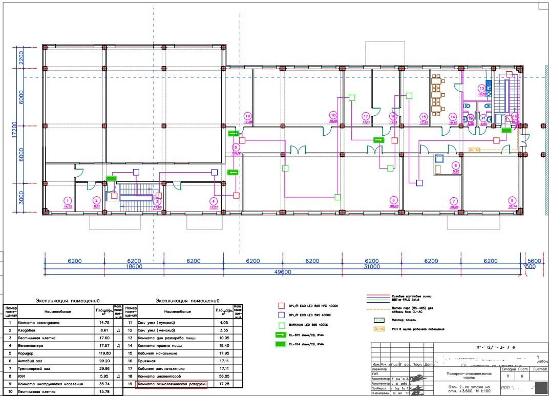 проект схема организации аварийного освещения в здании