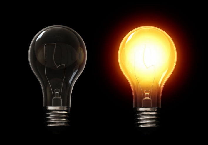 лампочка накаливание преобразование света в тепло