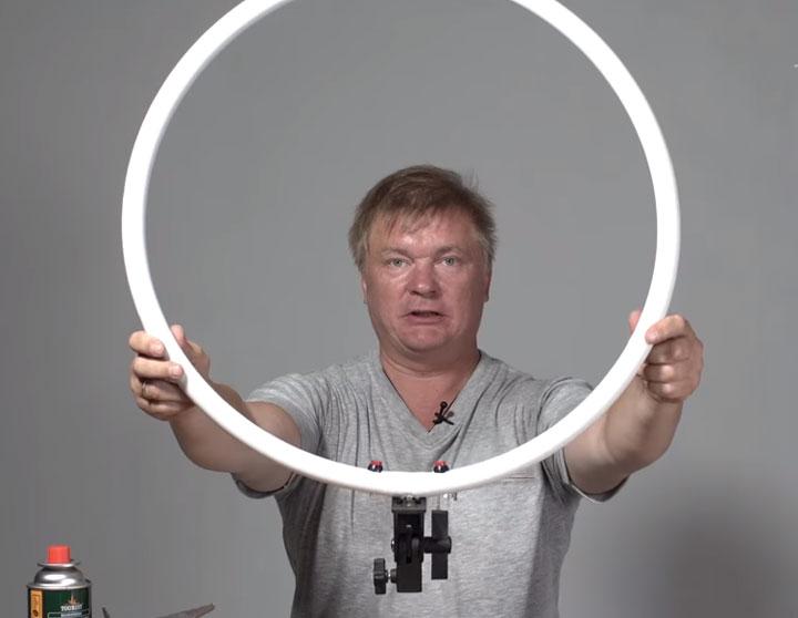 кольцевой свет как сделать самому из чего материалы