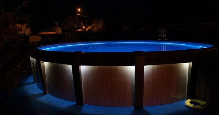 как сделать освещение бассейна светодиодной лентой самый безопасный способ