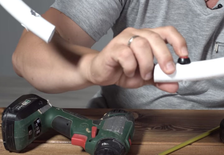 изготовление кольцевого света с отключением от кнопок