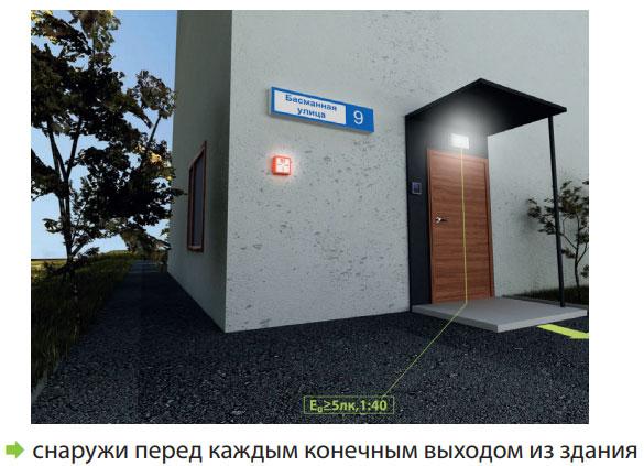 подключение знаков и аварийного освещения на улице перед входом