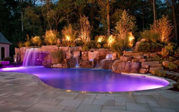светодиодная подсветка бассейна как сделать