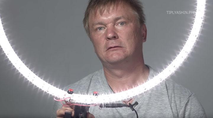 как сделать светодиодное кольцо своими руками для фотосъемок
