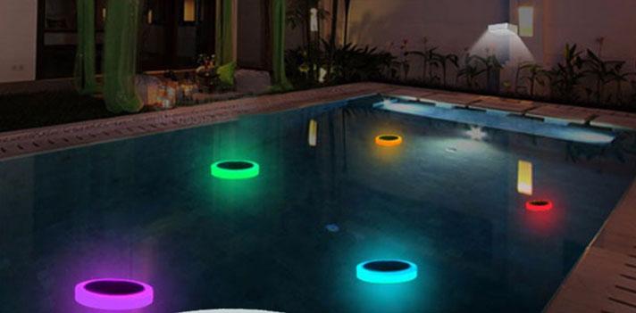 надводные фонари для освещения бассейна