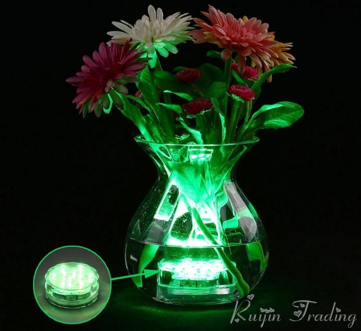 водонепроницаемая подсветка вазы с цветами